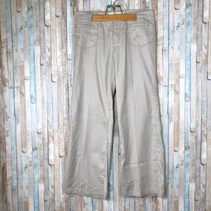Level 99 Linen Tan Khaki Wide Leg Trouser Pants 29